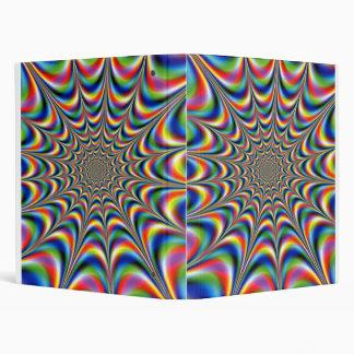 throbing fractal optical illusion binder