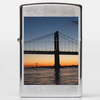 Throggs Neck and Whitestone Bridge Sunset Zippo Lighter