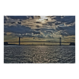 Throgs Neck & Whitestone Bridges Poster