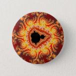 Throne of satan - Fractal Pinback Button