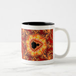 Throne of satan - Fractal Two-Tone Coffee Mug