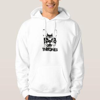 Thrones Black and White Hoodie (Men)