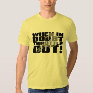 Throttle Out Dirt Bike Motocross Funny Shirt