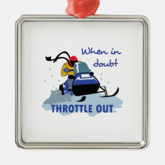 THROTTLE OUT METAL ORNAMENT
