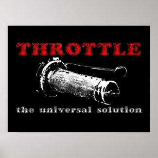Throttle Solution Dirt Bike Motocross Poster print