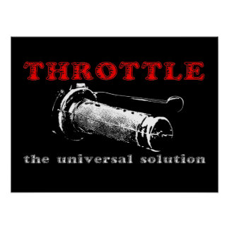Throttle Solution Dirt Bike Motocross Poster
