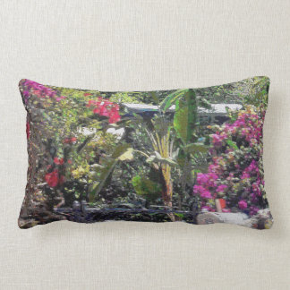 Through a garden gate... lumbar pillow