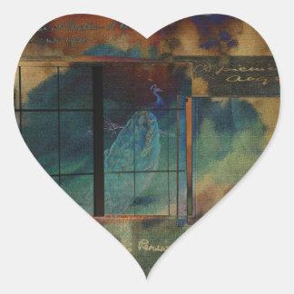 Through a Glass Darkly Heart Sticker