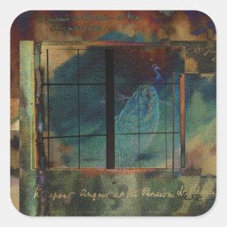 Through a Glass Darkly Square Sticker
