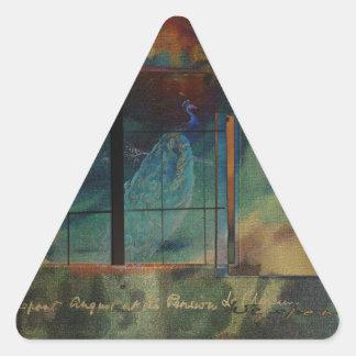 Through a Glass Darkly Triangle Sticker