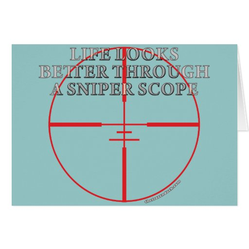 Through a Sniper Scope Greeting Card