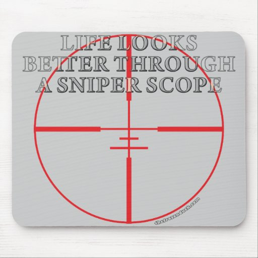 Through a Sniper Scope Mouse Pad