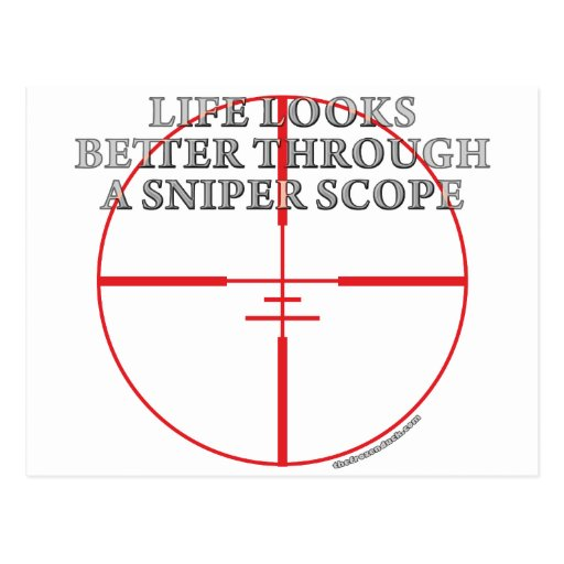 Through a Sniper Scope Postcard