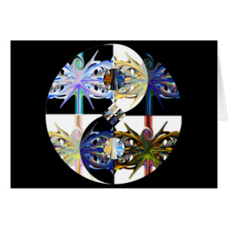 through and through ~ yin yang fractal art card