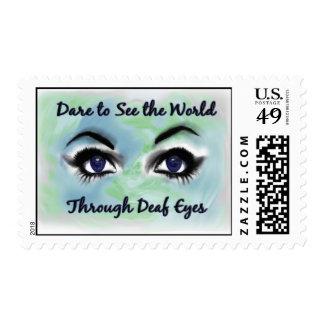 Through Deaf Eyes postage stamp