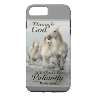 Through God we shall do Valiantly Psalm 108 Horses iPhone 8 Plus/7 Plus Case