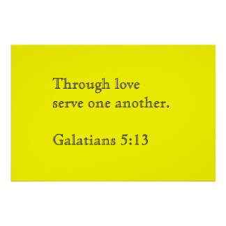 Through love serve one another poster
