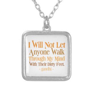 Through My Mind Quote Gandhi Custom Jewelry