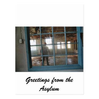 Through the Asylum Window Postcard