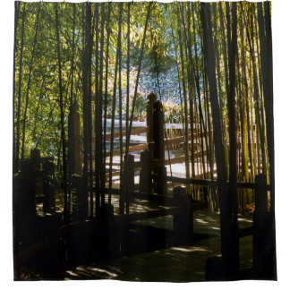 Through The Bamboo Shower Curtain