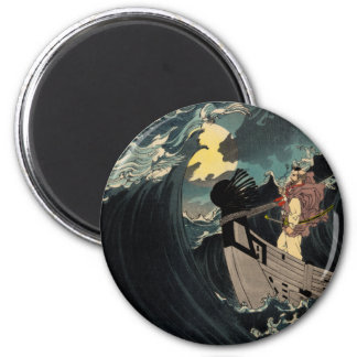 Through The Crashing Waters Of Endless Night 2 Inch Round Magnet