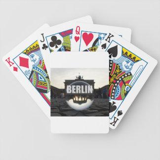 Through the crystal ball, Brandenburg Gate Bicycle Playing Cards