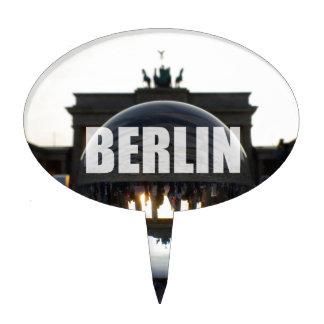 Through the crystal ball, Brandenburg Gate Cake Topper