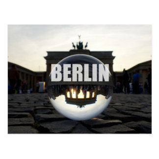 Through the crystal ball, Brandenburg gate Postcard