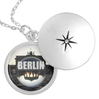 Through the crystal ball, Brandenburg Gate Silver Plated Necklace
