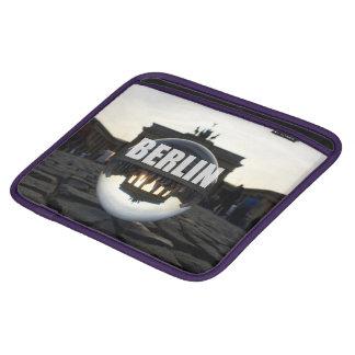 Through the crystal ball, Brandenburg gate Sleeve For iPads