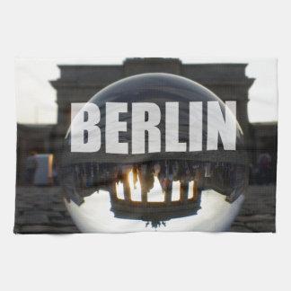 Through the crystal ball, Brandenburg Gate Towels