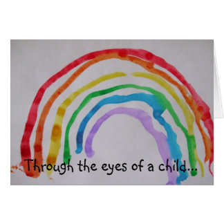 Through the eyes of a child... stationery note card