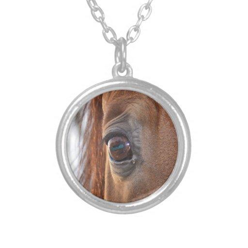 Through the eyes of a curious horse pendant