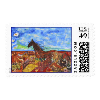Through the Fields Postage