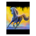 Through the Fire Horse Greeting Card