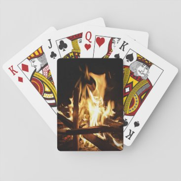 glabayphotography Through the Flames Playing Cards