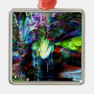 Through The Heart 11 Metal Ornament