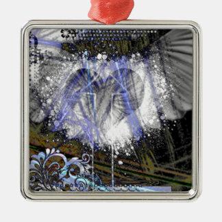 Through The Heart 2 Metal Ornament