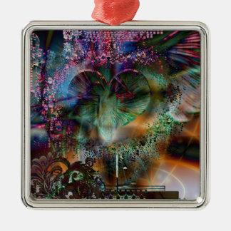 Through The Heart 8 Metal Ornament