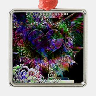 Through The Heart 9 Metal Ornament