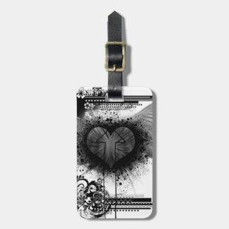 Through The Heart Bag Tag