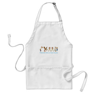 THROUGH THE LOOKING GLASS ADULT APRON