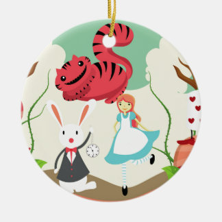 Through The Looking Glass Ceramic Ornament