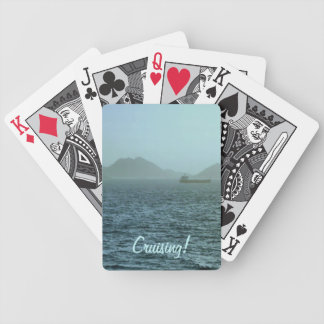 Through the Mist Bicycle Playing Cards
