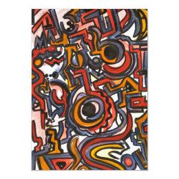 Through The Portal - Abstract Art Card