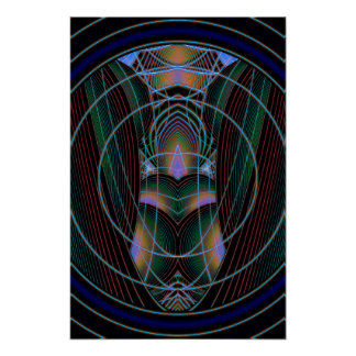 Through The Portal Abstract Art Poster