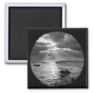 Through the porthole of a Coast_War Image Magnet