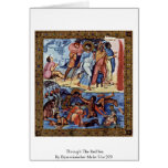 Through The Red Sea By Byzantinischer Maler Um 920 Greeting Cards