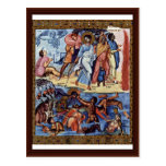 Through The Red Sea By Byzantinischer Maler Um 920 Post Card