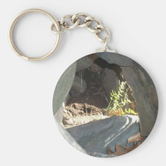 Through the Rock - Nature Series 1 Basic Round Button Keychain